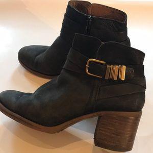 Lucky Brand Leather Heeled Booties - Sz 8.5